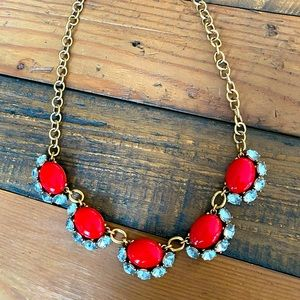Stella & Dot Mae Red Statement Necklace